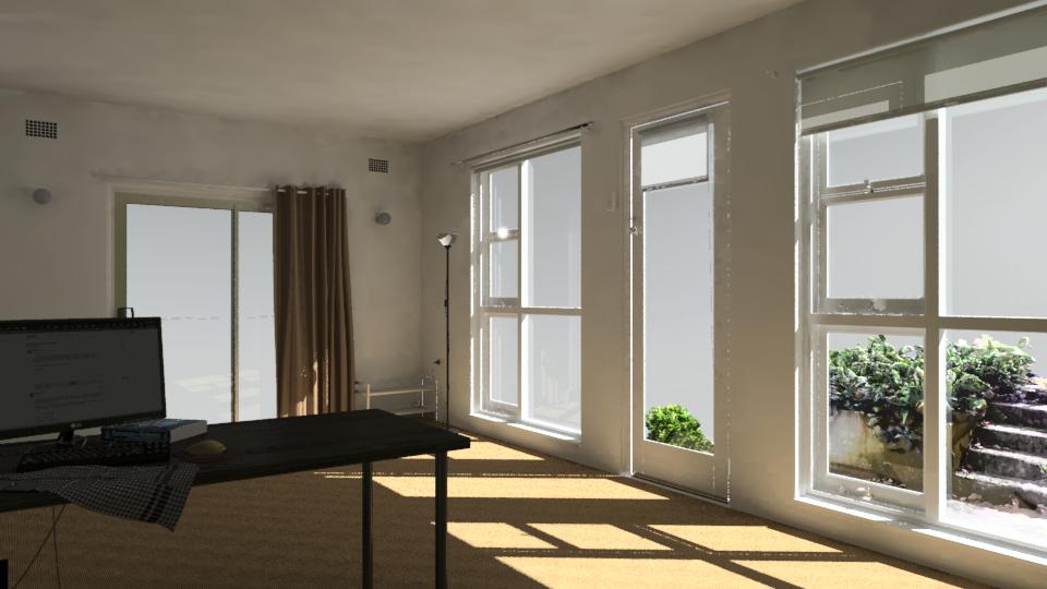 Work in progress - living room - radiance-general